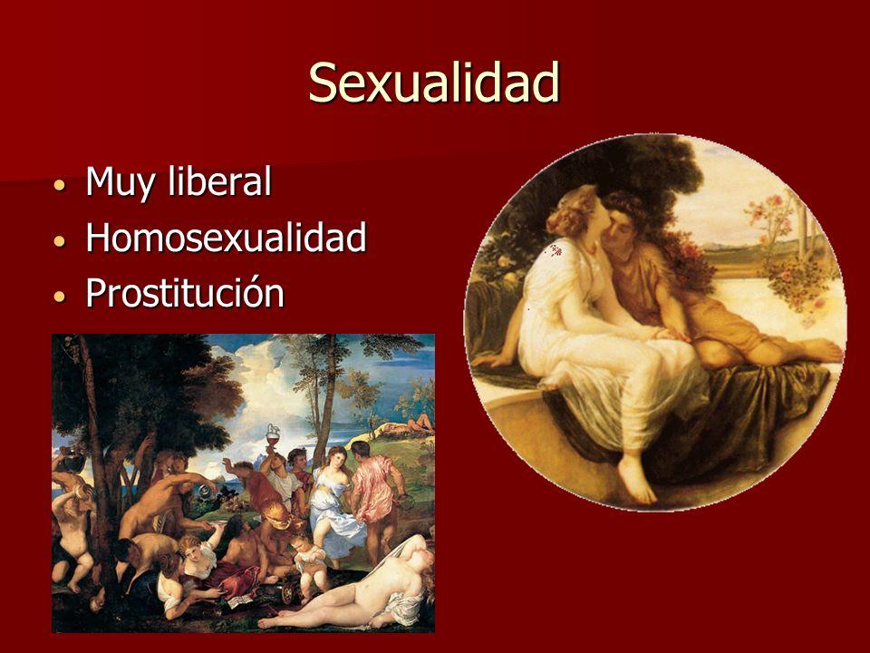 Sexualidad Muy liberal Muy liberal Homosexualidad Homosexualidad Prostitución Prostitución