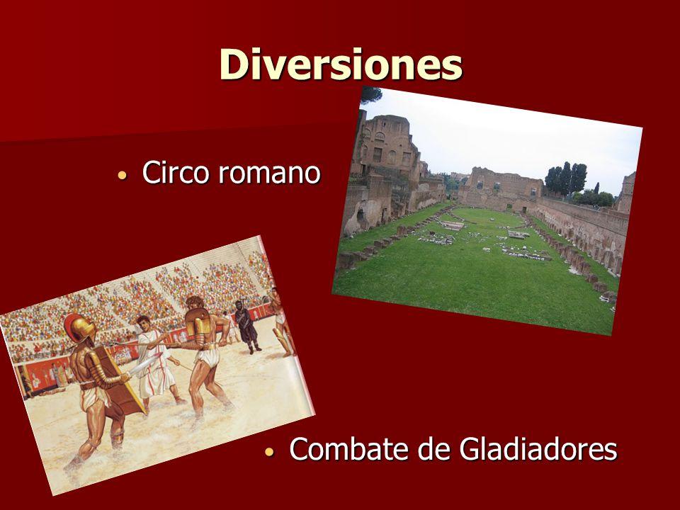 Diversiones Circo romano Circo romano Combate de Gladiadores Combate de Gladiadores
