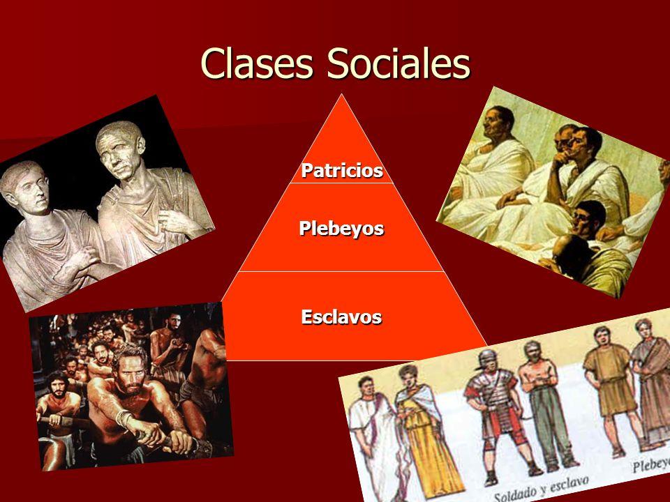 Clases Sociales PatriciosPlebeyos Esclavos