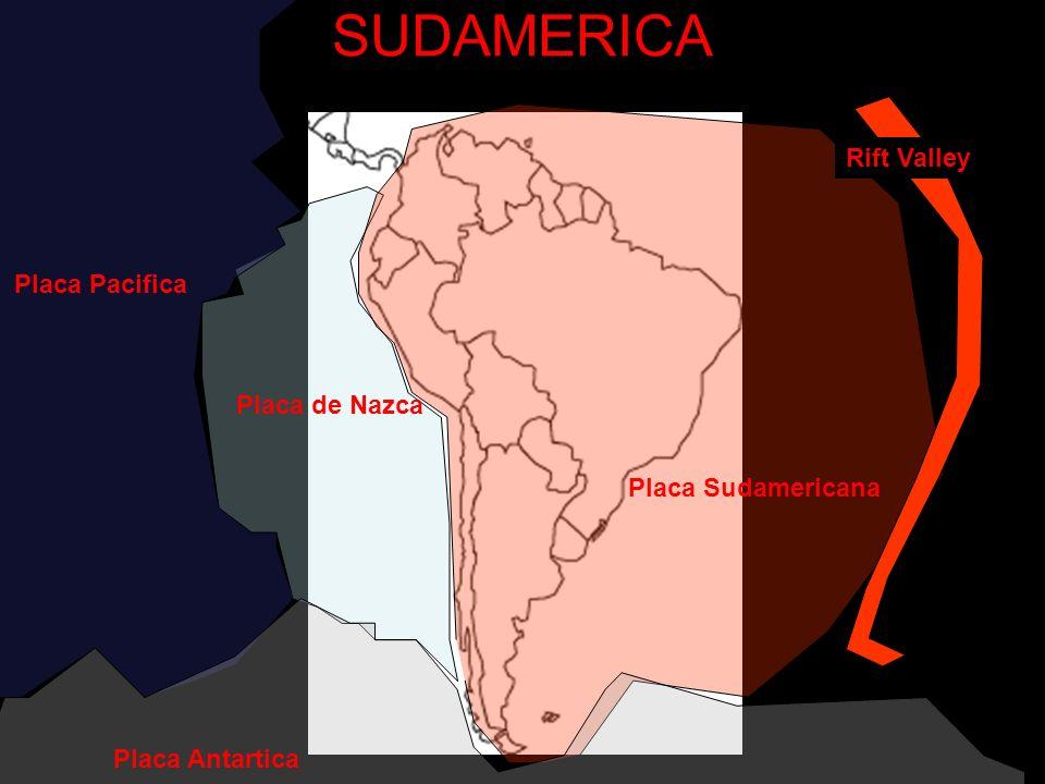 SUDAMERICA Placa Pacifica Placa de Nazca Placa Sudamericana Rift Valley Placa Antartica