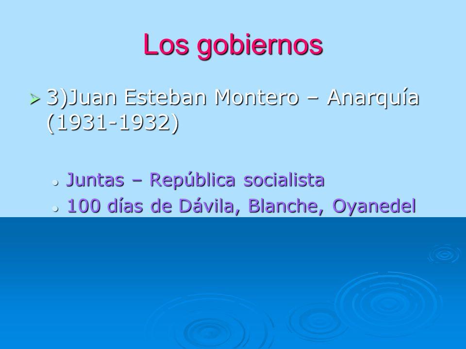 Los gobiernos 4) Arturo Alessandri Palma ( 1932-1938) -Milicias republicanas - Voto femenino municipal(1934) - Nuevos partidos: NAZI – FALANGE - Nace el FRENTE POPULAR ( radical y la izquierda para frenar a los nacistas y fascistas) - El punto negro : Matanza del Seguro Obrero.