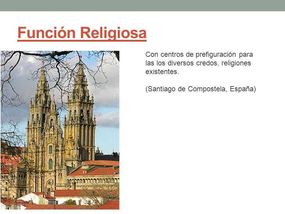Función Religiosa Con centros de prefiguración para las los diversos credos, religiones existentes. (Santiago de Compostela, España)