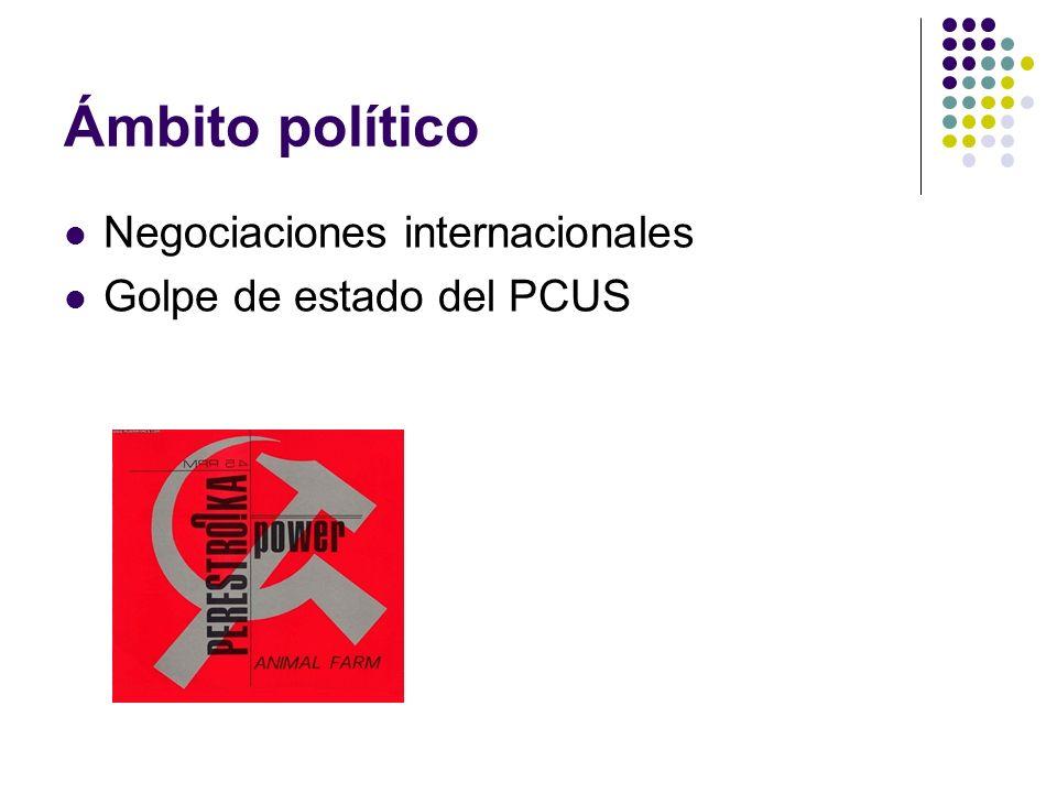 Ámbito político Negociaciones internacionales Golpe de estado del PCUS