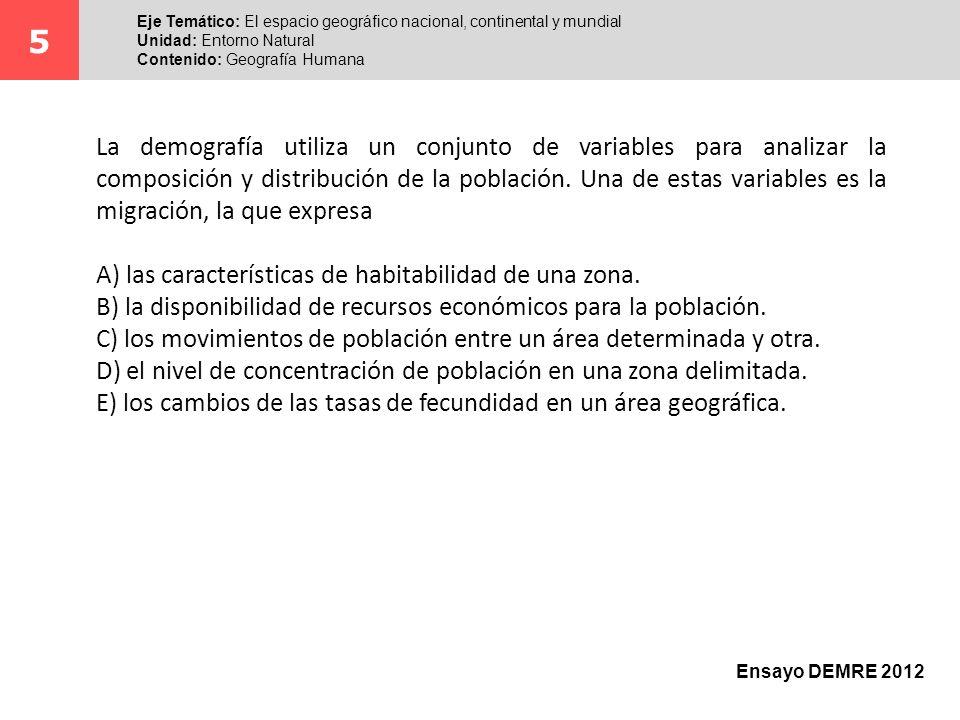 La demografía utiliza un conjunto de variables para analizar la composición y distribución de la población. Una de estas variables es la migración, la