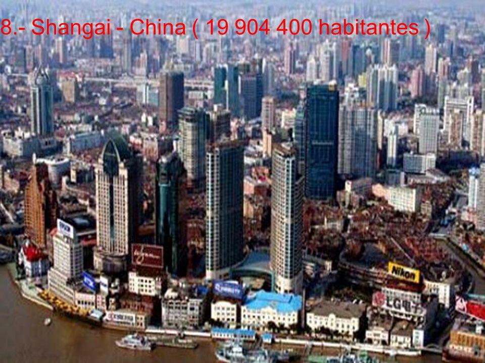 8.- Shangai - China ( 19 904 400 habitantes )