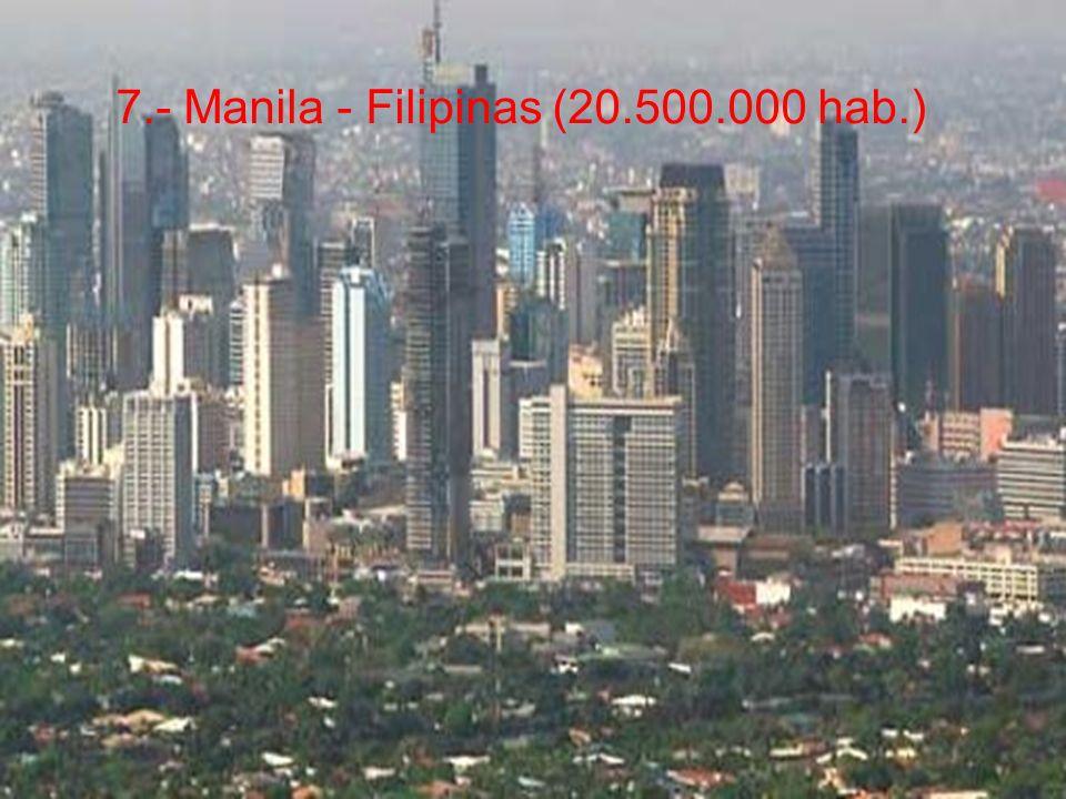 7.- Manila - Filipinas (20.500.000 hab.)