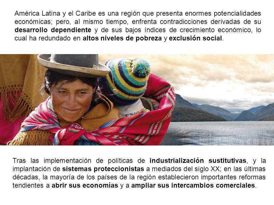 PETRÓLEO CAFÉ COBRE En la mayoría de los casos, los países de América Latina explotan recursos naturales a los cuales se les incorpora escaso valor agregado, y los exportan a los principales mercados mundiales donde son manufacturados y reexportados al resto del mundo.