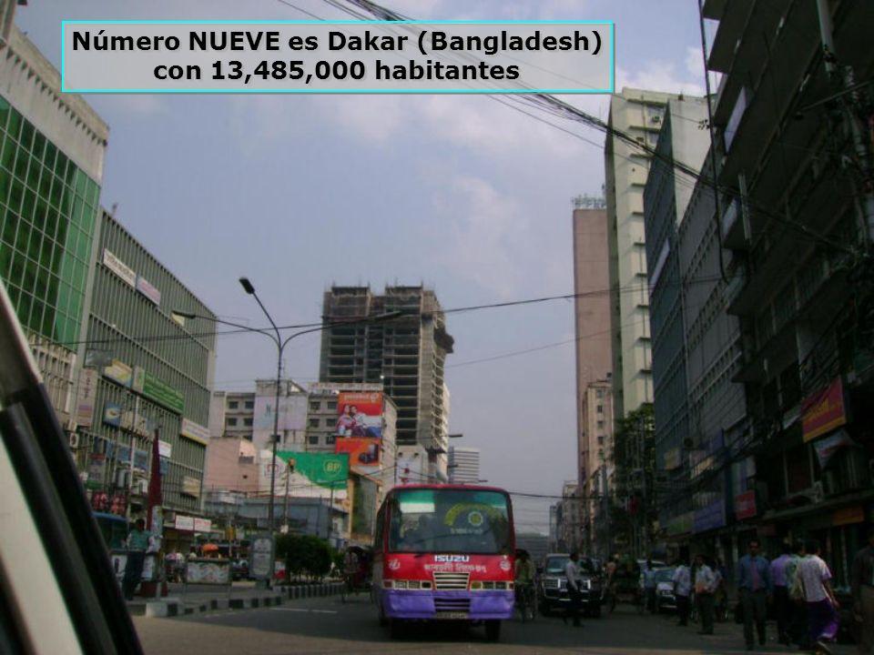 La número DIEZ es Buenos Aires, (Argentina) con 12,795,000 habitantes La número DIEZ es Buenos Aires, (Argentina) con 12,795,000 habitantes