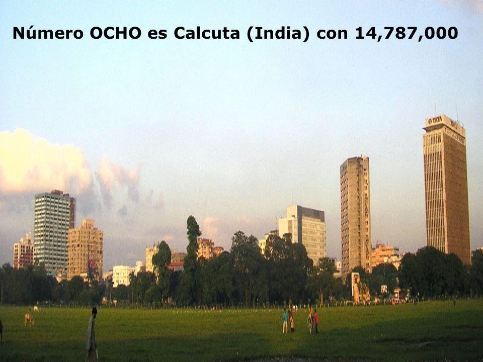 Número OCHO es Calcuta (India) con 14,787,000
