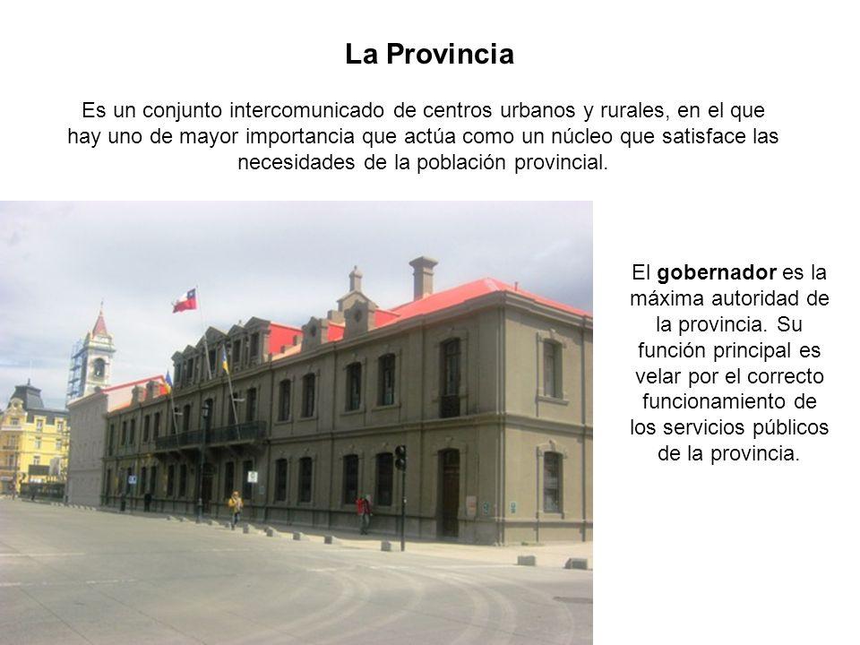 La Provincia Es un conjunto intercomunicado de centros urbanos y rurales, en el que hay uno de mayor importancia que actúa como un núcleo que satisfac