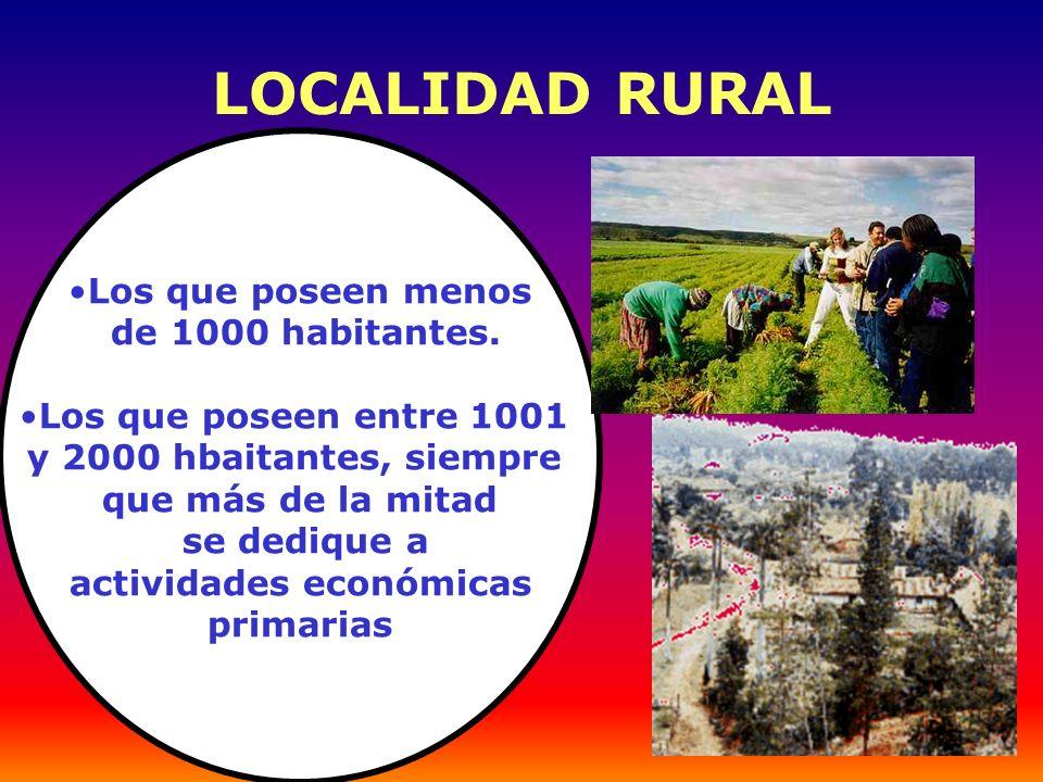 El mundo urbano provee de educación, salud y tecnología al mundo rural.