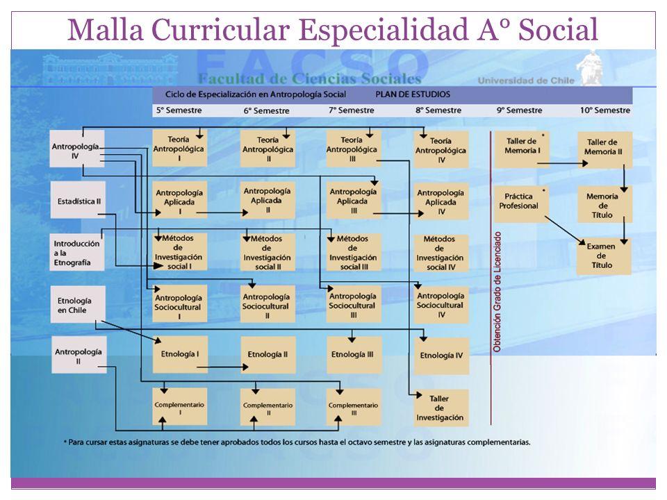 Malla Curricular Especialidad A° Social