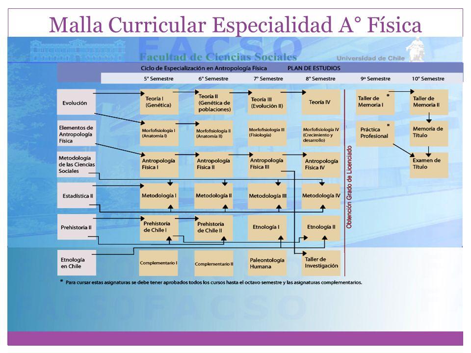 Malla Curricular Especialidad A° Física