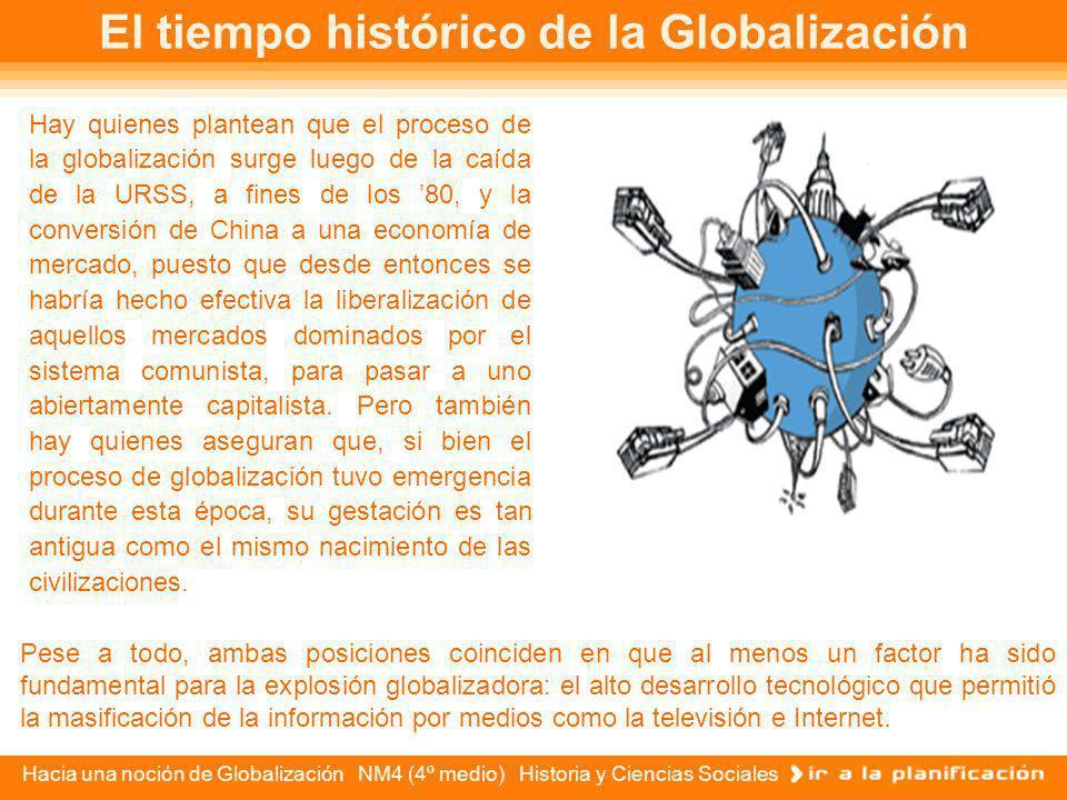 Hacia una noción de Globalización NM4 (4º medio) Historia y Ciencias Sociales Sin embargo, que el tiempo mundial nos ponga frente a problemas análogos