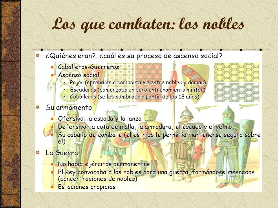 Los que combaten: los nobles ¿Quiénes eran?, ¿cuál es su proceso de ascenso social.