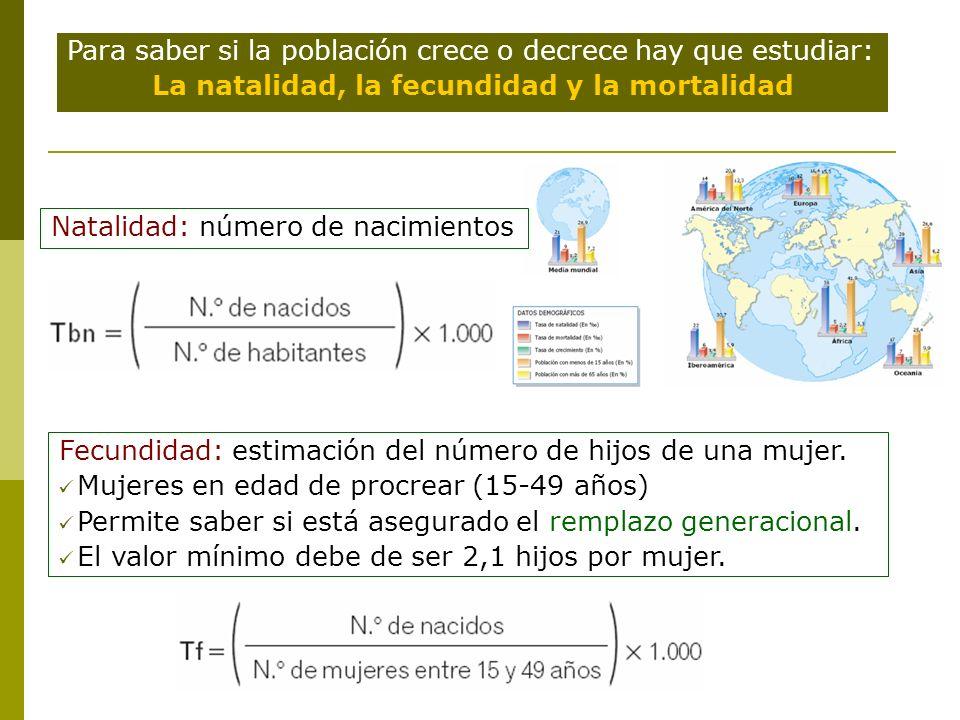 Natalidad y Mortalidad Tasa alta: >30 % 0 Tasa moderada: entre 15 y 30 % 0 Tasa baja: <15 % 0 Mortalidad: número de defunciones.