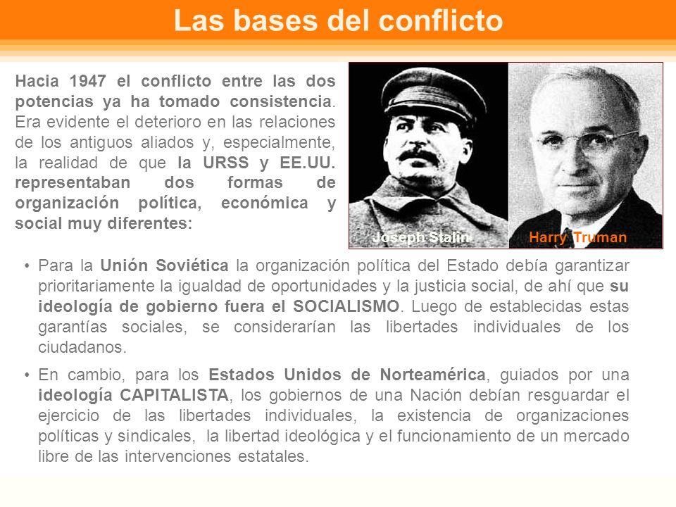 La Guerra Fría NM4 (4º medio) Historia y Ciencias Sociales Decisiones tras la Segunda Guerra Mundial Al finalizar la Segunda Guerra Mundial los lídere