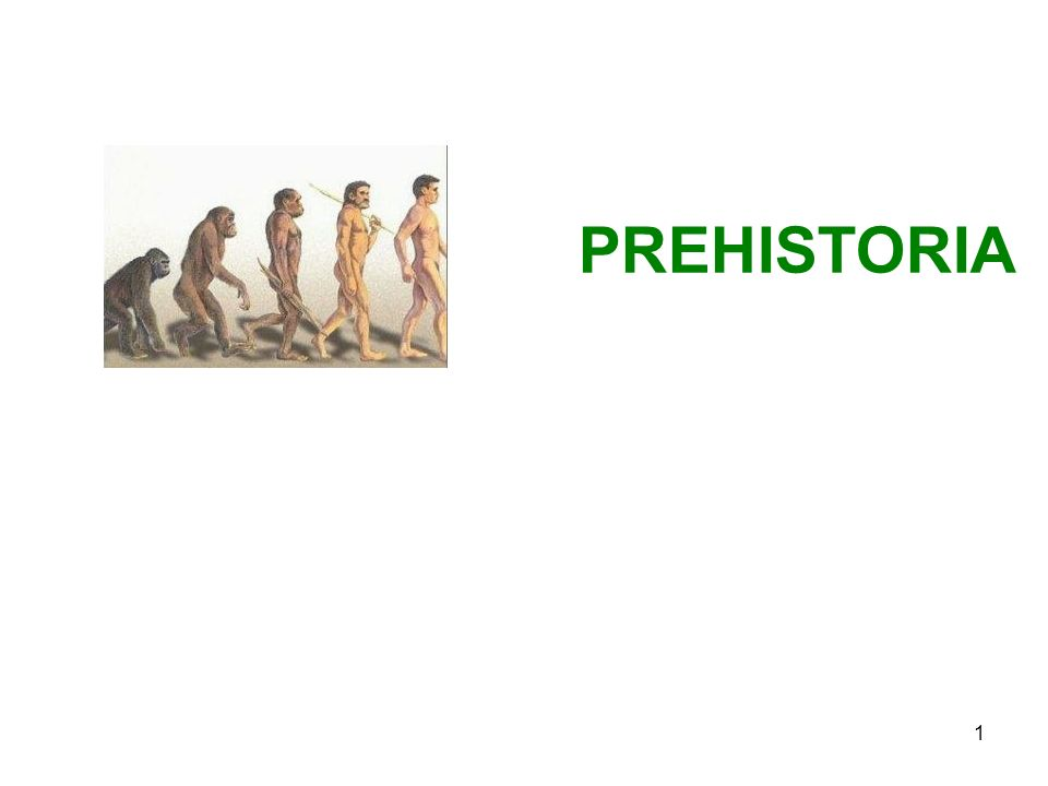 1 PREHISTORIA