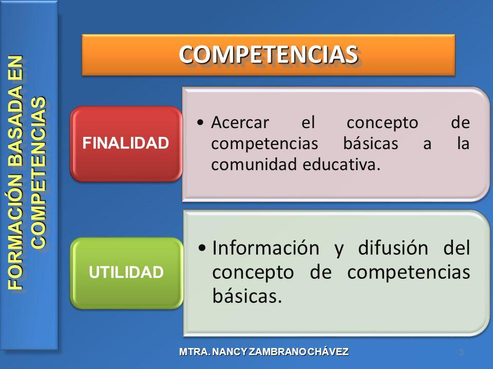 FORMACIÓN BASADA EN COMPETENCIAS MTRA.