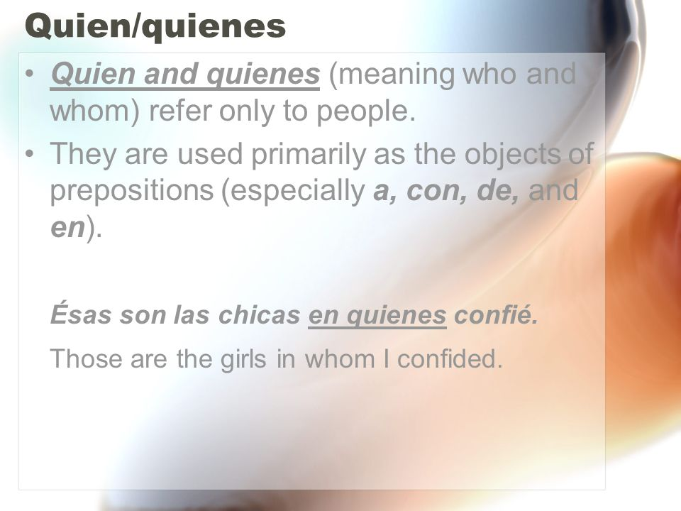 Lo que 1.Lo que is used to refer to an idea that has been previously stated.