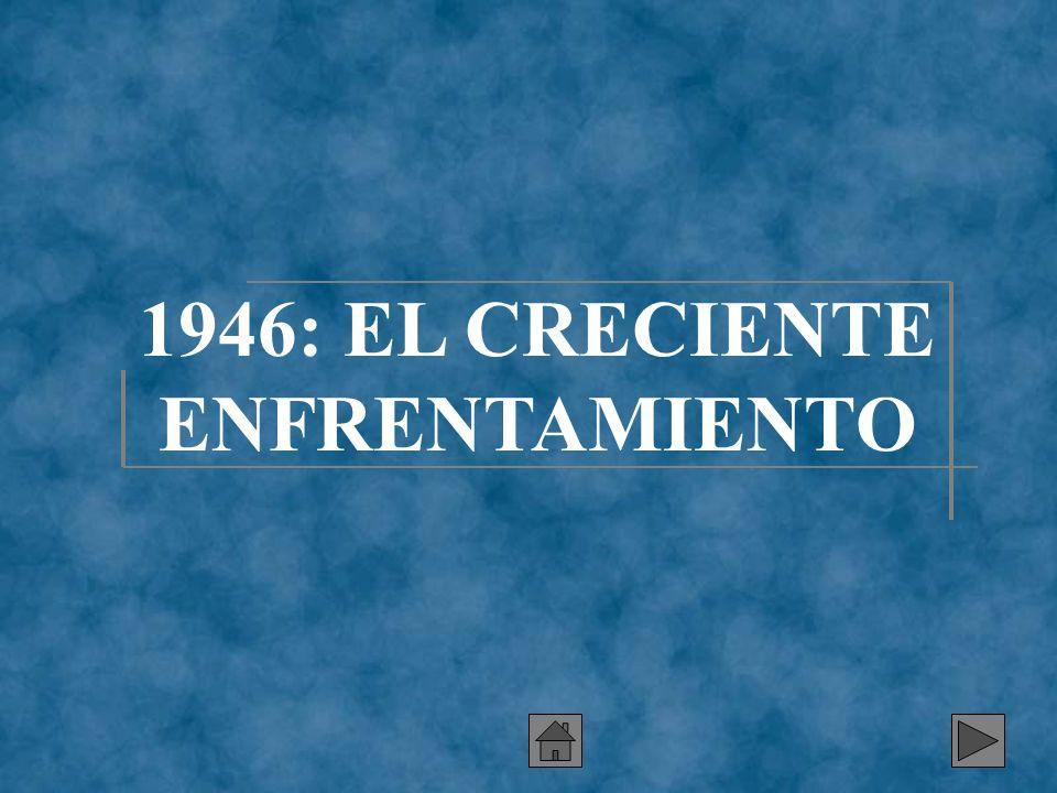 1946: EL CRECIENTE ENFRENTAMIENTO