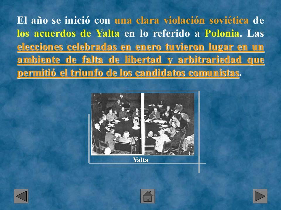 elecciones celebradas en enero tuvieron lugar en un ambiente de falta de libertad y arbitrariedad que permitió el triunfo de los candidatos comunistas
