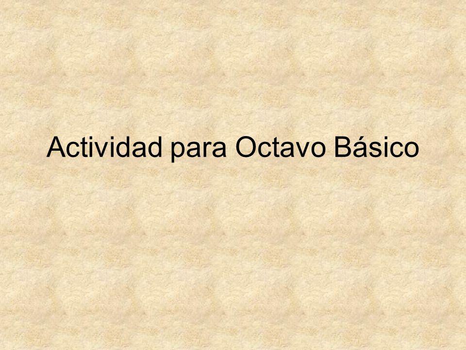 Actividad para Octavo Básico