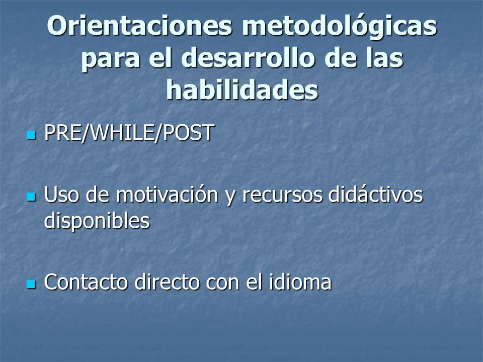 Expresión oral Resolver ejercicios de comprensión de textos. Participar en diálogos u otros textos orales guiados. Expresión escrita Resolver ejercici
