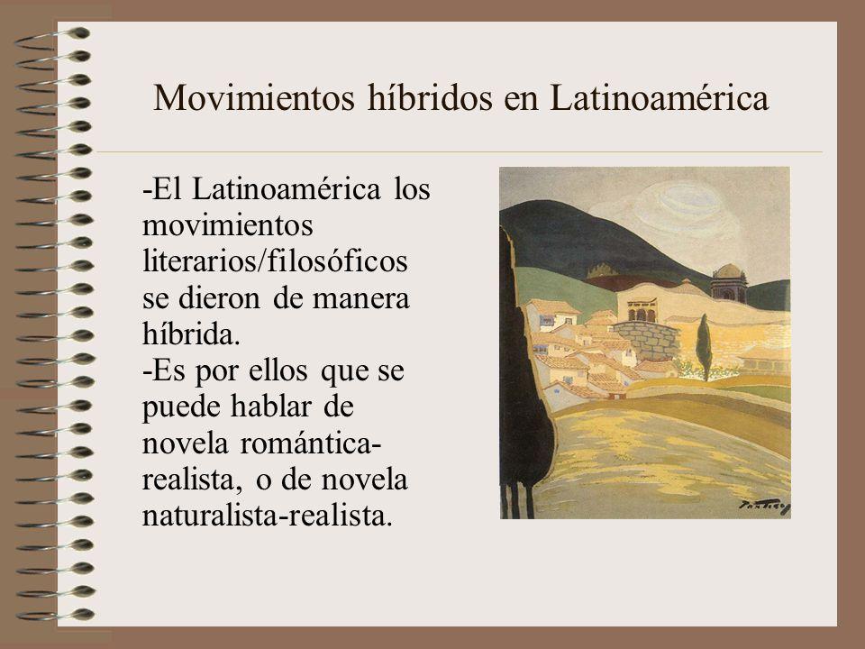 Movimientos híbridos en Latinoamérica -El Latinoamérica los movimientos literarios/filosóficos se dieron de manera híbrida. -Es por ellos que se puede