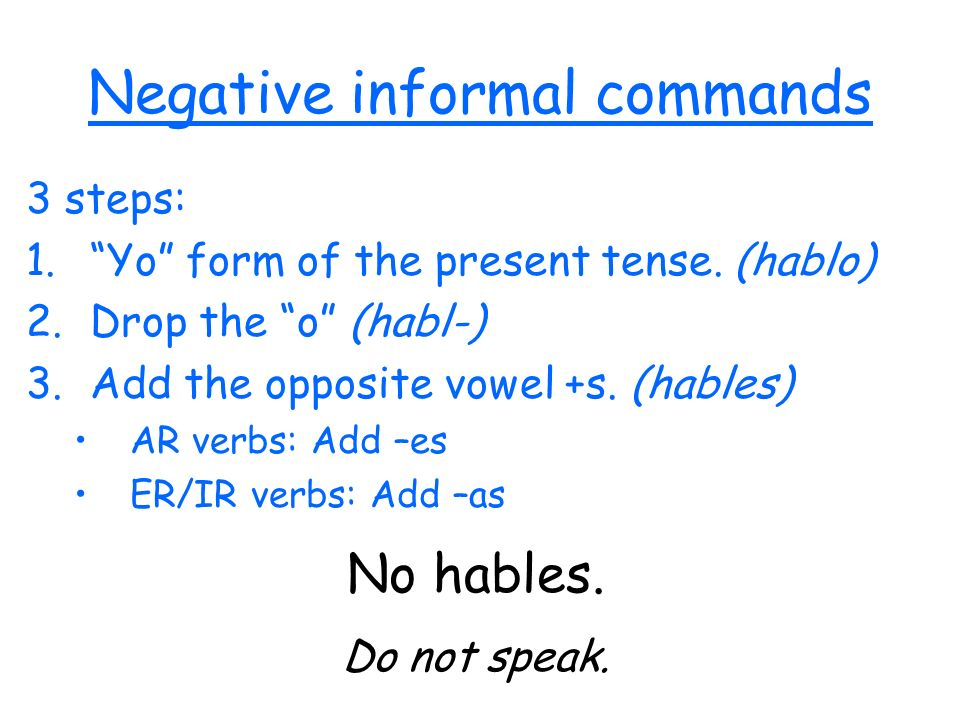 Dont forget about verbs that have irregular yo forms.