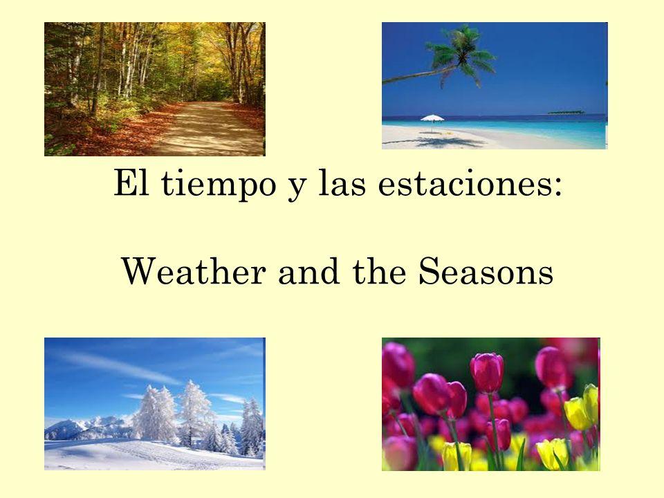 vocabulario nuevo: el tiempo = weather las estaciones = the seasons ¿Qué tiempo hace.