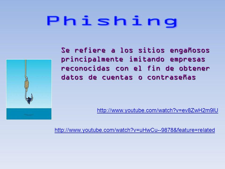 http://www.youtube.com/watch?v=ev8ZwH2m9lU http://www.youtube.com/watch?v=uHwCu--9878&feature=related Se refiere a los sitios engañosos principalmente