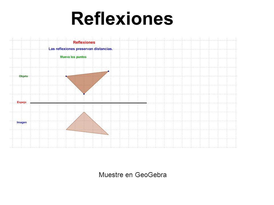 Reflexiones Muestre en GeoGebra