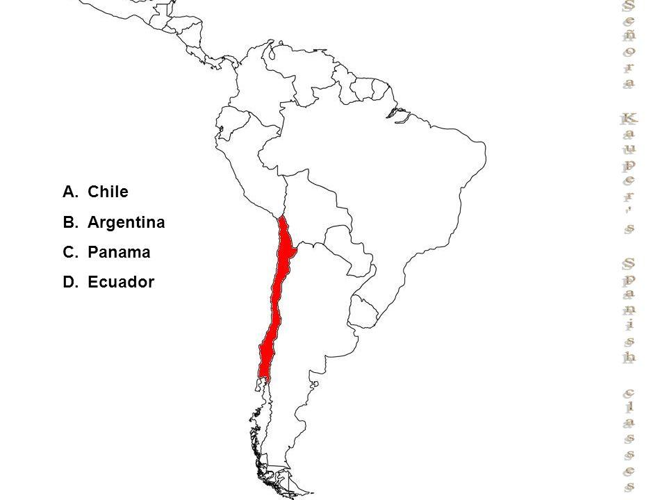 Señora Kauper s Spanish classes A.Chile B.Argentina C.Panama D.Ecuador
