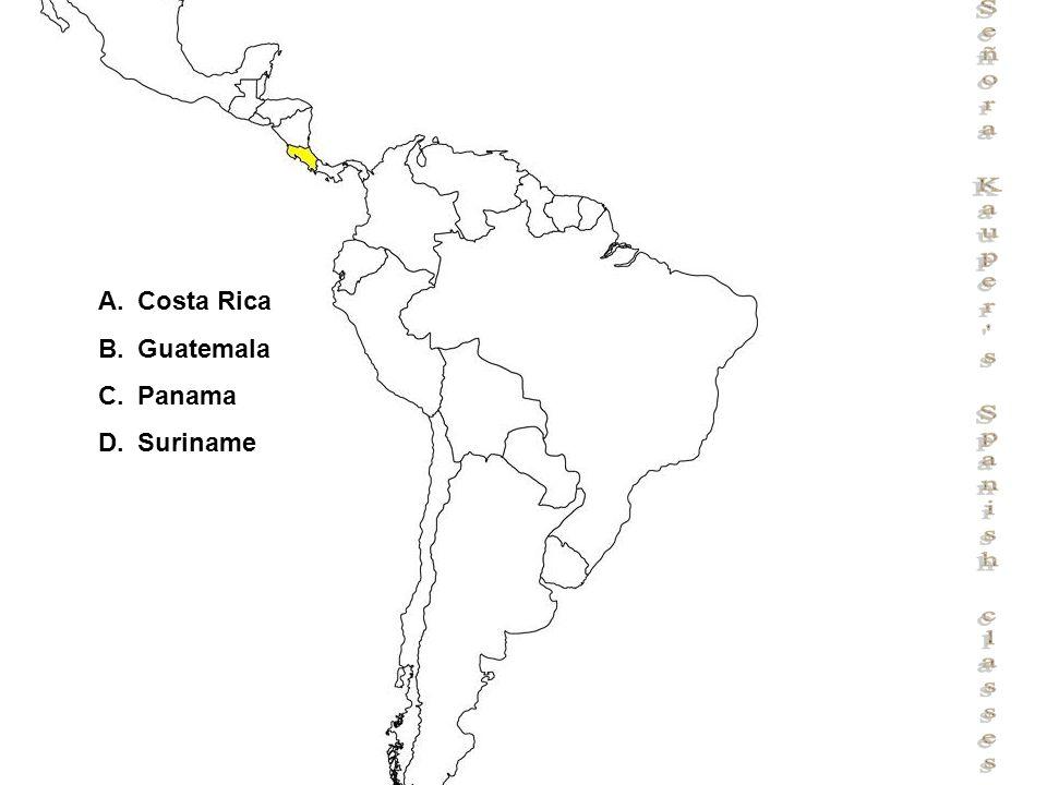 Señora Kauper s Spanish classes A.Costa Rica B.Guatemala C.Panama D.Suriname