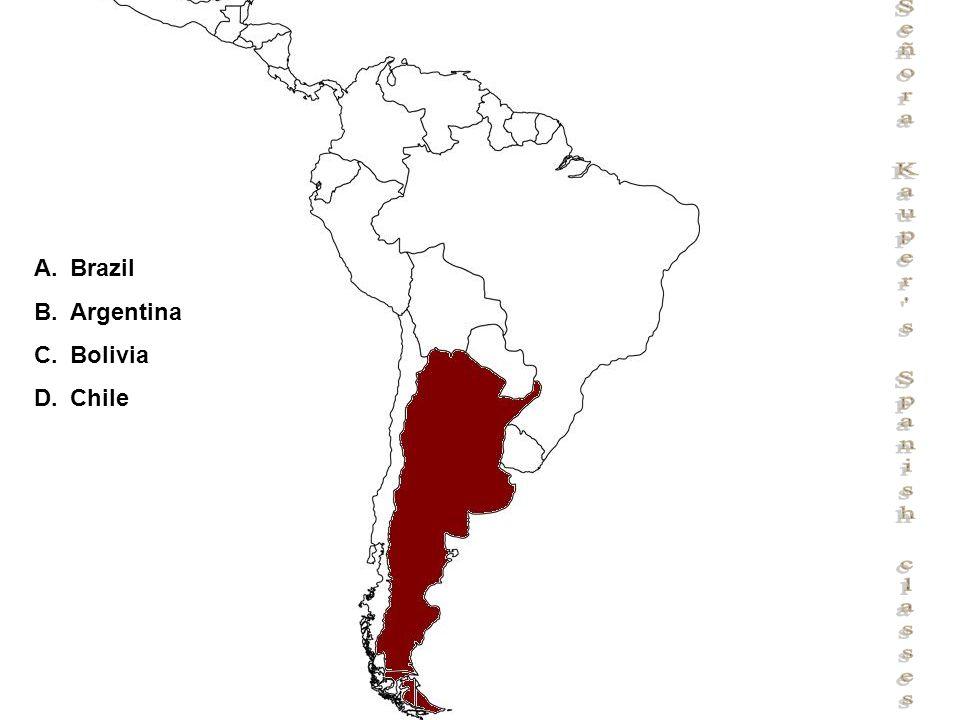 Señora Kauper s Spanish classes A.Brazil B.Argentina C.Bolivia D.Chile