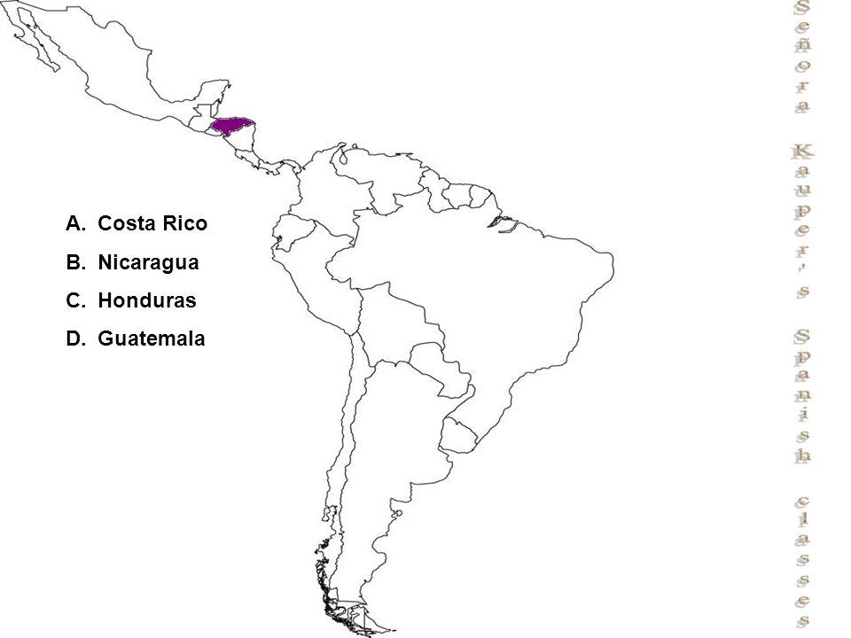 Señora Kauper s Spanish classes A.Costa Rico B.Nicaragua C.Honduras D.Guatemala