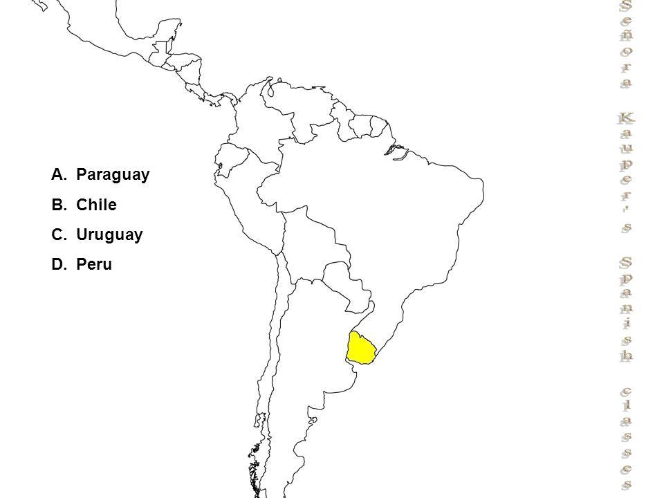 Señora Kauper s Spanish classes A.Paraguay B.Chile C.Uruguay D.Peru