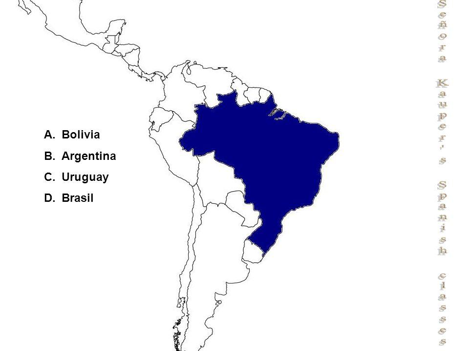 Señora Kauper s Spanish classes A.Bolivia B.Argentina C.Uruguay D.Brasil
