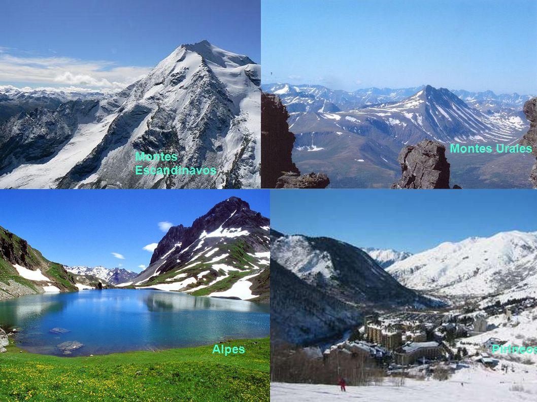 Montes Escandinavos Montes Urales AlpesPirineos