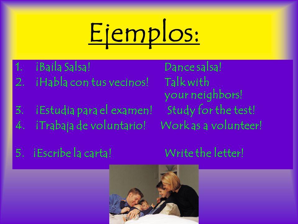 Nosotros Nosotros commands and stem-changes: No stem changes in -ar and -er verbs.