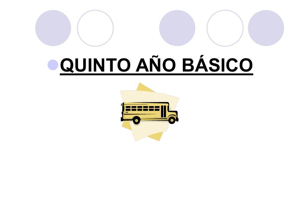 QUINTO AÑO BÁSICO