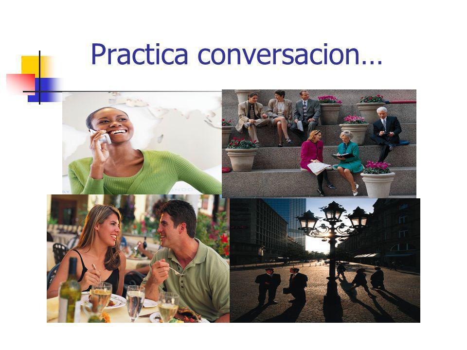 Instrucciones del libro Escribe, usando el vocabulario de la pagina Escucha las conversaciones.