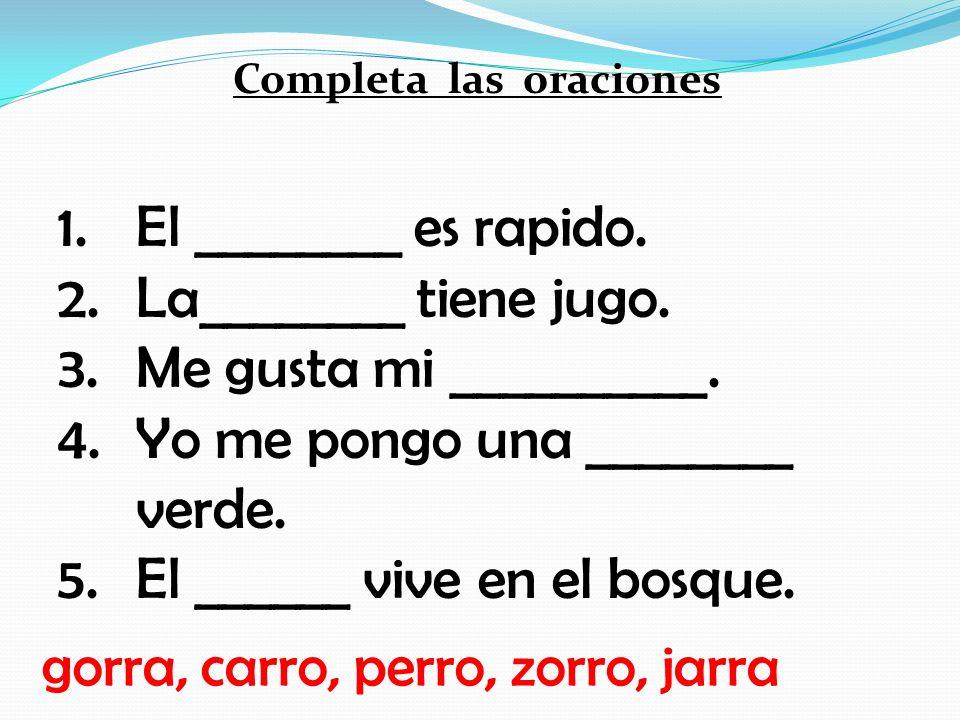 Completa las palabras con RR rr 1. go____ 2. ja___ 3. tie___ 4. to___ 5. ca___ta 6. bu___to 7. pe___ 8. ca___ 9. zo___ 10.ca___sel