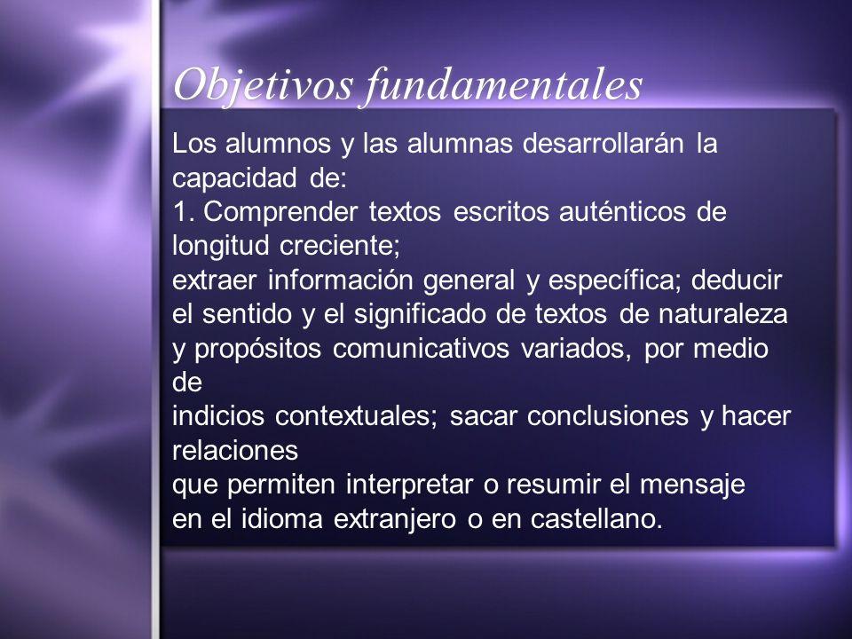 Objetivos fundamentales 2.