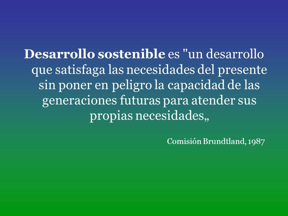 Las dimensiones del desarrollo sostenible Dimensión económica Dimensión ecológica Dimensión social