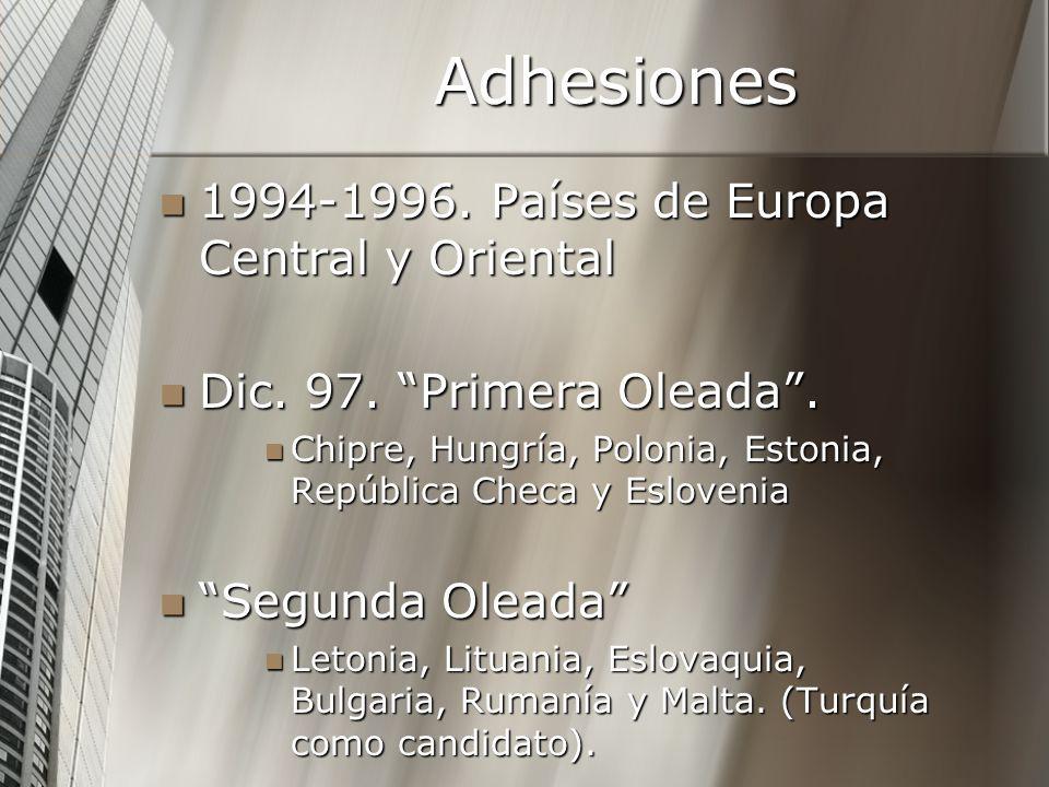 Adhesiones 1994-1996. Países de Europa Central y Oriental 1994-1996. Países de Europa Central y Oriental Dic. 97. Primera Oleada. Dic. 97. Primera Ole