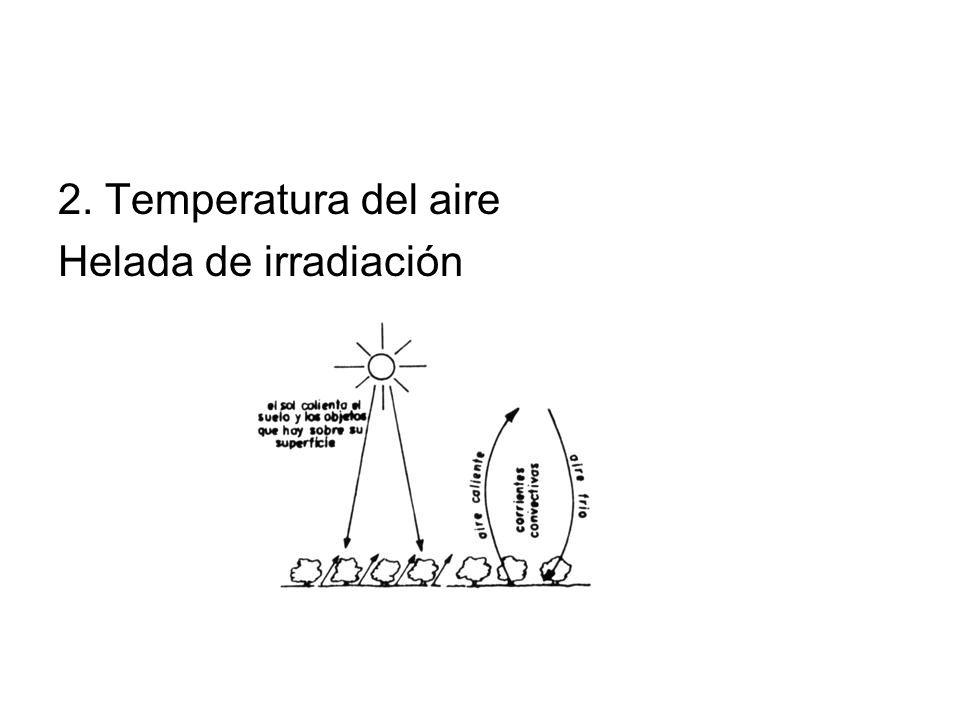 2. Temperatura del aire Helada de irradiación