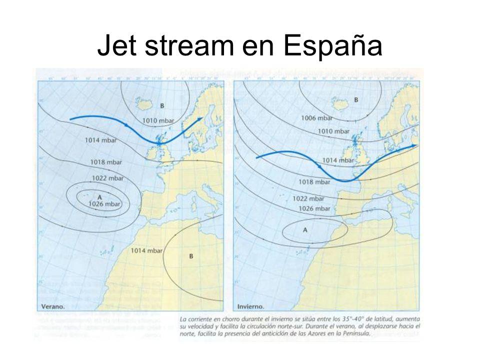 Jet stream en España