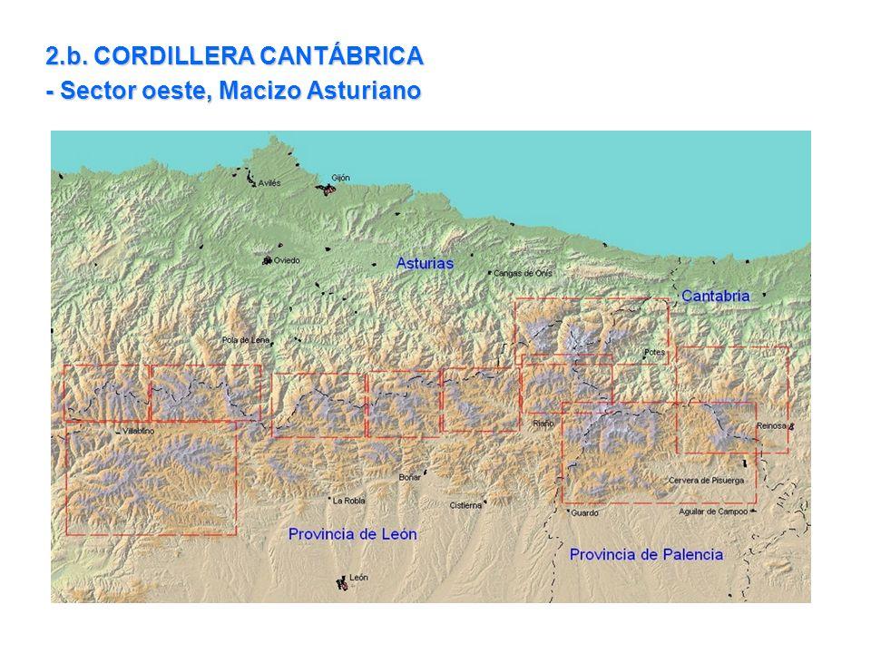 2.b. CORDILLERA CANTÁBRICA - Sector oeste, Macizo Asturiano